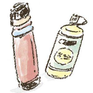 飲み水を持ち運ぶ ナルゲンや水筒 山では、登り始めてから下山するまでの飲み水は持って歩くのがルール。必要な量の飲み水を確保して、持ち運べるナルゲンや水筒は必須アイテム