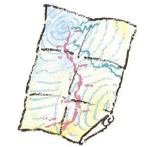 山に親しむための 山の地図 連れて行ってもらう立場でも、山ではひとり1枚地図を持って歩くのが鉄則。歩くうちに地図の見方がわかってくれば、登山の楽しみも2倍に!